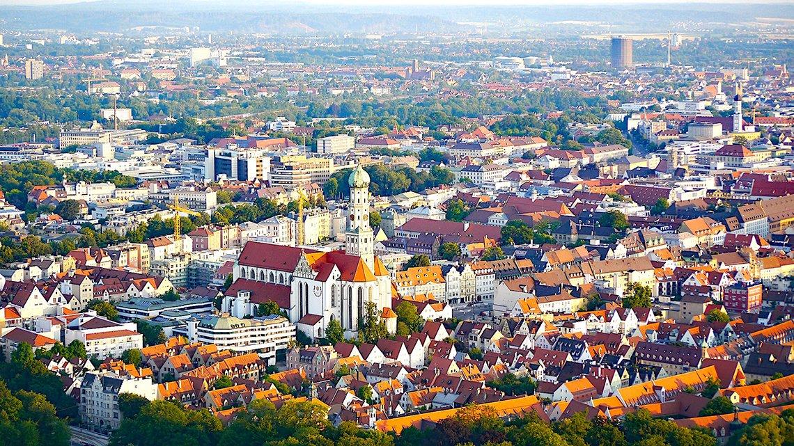 augsburg şehir manzarası